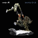 Halo Weta Master Chief and Flood Statue 2